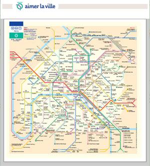 ★パリの地下鉄(メトロ)で ...
